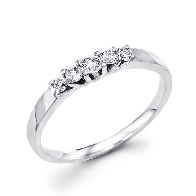 Women's Diamond Wedding Band 14k White Gold Anniversary Ring 1/4 Carat
