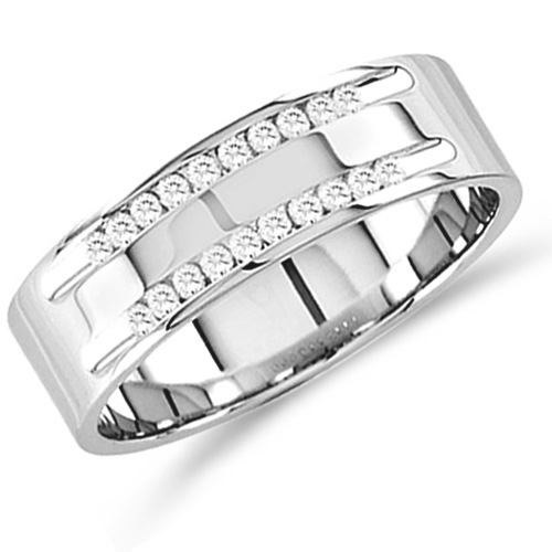 Mens Diamond Engagement Ring Wedding Band Anniversary 14k White Gold (1.50 ct.tw)