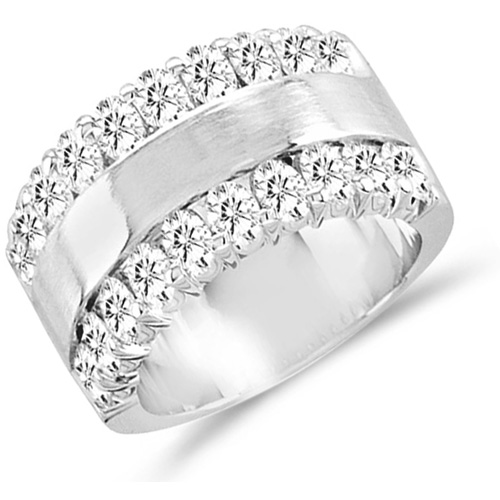 Mens Diamond Wedding Band Engagement Ring Anniversary 14k White Gold (1.50 ct.tw)