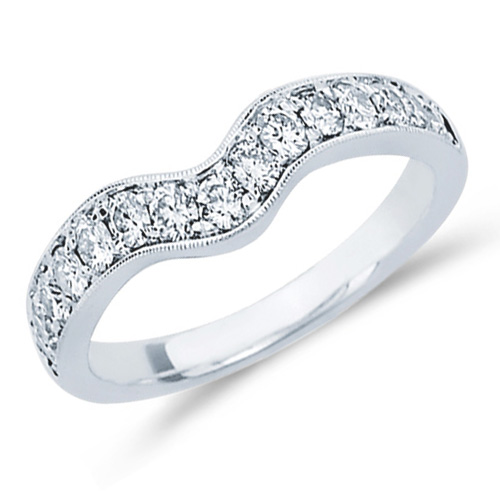 Diamond Wedding Ring Guard Engagement Bridal Band 14k White Gold (0.50 ct.tw)