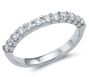 Diamond Wedding Ring 14k White Gold Anniversary Band Bridal (0.53 CTW)