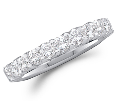 Diamond Wedding Ring 14k White Gold Anniversary Band (1.03 Carat)