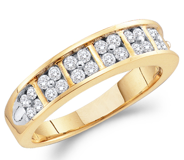 Diamond Wedding Ring 14k Yellow Gold Bridal Anniversary Band (0.50 CT)