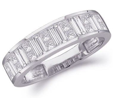 Diamond Wedding Ring 14k White Gold Anniversary Band Bridal (1 Carat)