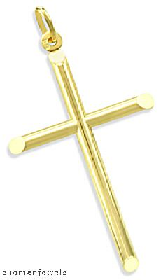 Plain Cross Charm 14k Yellow Gold Pendant